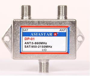 DiseqC и мультисвичи - Купить, подключение и установка диплексер ASIASTAR DP-01 в Ташкенте
